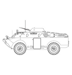 Soviet armored reconnaissance vehicle vector