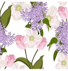 spring bouquets on white background vector image