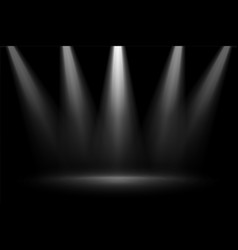 Stage focus spotlights on black background vector