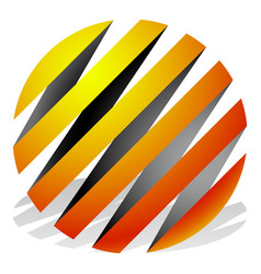 striped 3d spheres orbs sphere icons abstract vector image