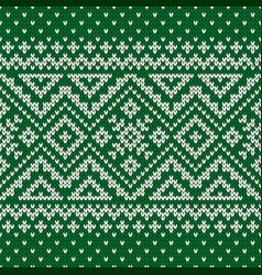 Sweater fairisle design vector