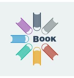 Symbol set of books vector image