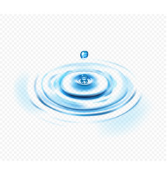 water ripple transparent concept vector image