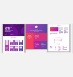 Website design template business project vector
