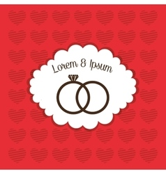 Wedding marriage love vector