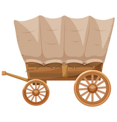 western style of wagon vector image