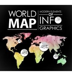 World map card vector image