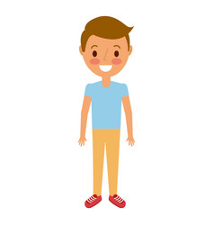 young boy kid smiling happy gesture vector image