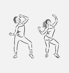 Zumba dancers dancers fitness dancer vector