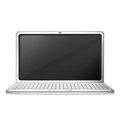 A notebook computer vector image