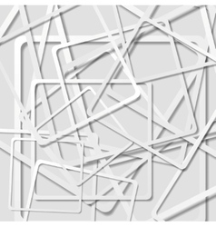 Abstract light grey squares background vector image vector image