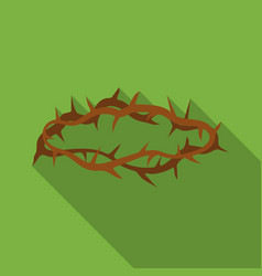 crown of thorns icon in flat style isolated on vector image vector image