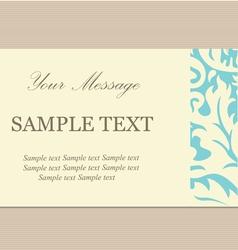 floral card vintage blue vector image
