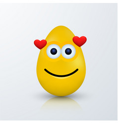modern easter emoji egg with shadow vector image