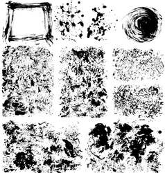 Set of textures vector image vector image