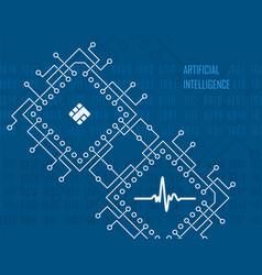 artificial intelligence virtual high-tech vector image vector image