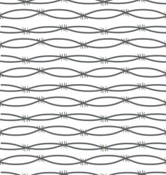 Barbed wire on white background vector image