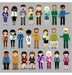 Big set of business people vector image