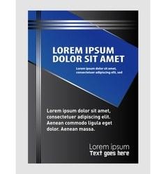 elegant business brochure flyer design vector image vector image