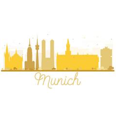 munich city skyline golden silhouette vector image vector image