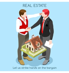 Real Estate 01 People Isometric vector image vector image