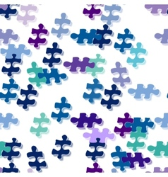 seamless puzzle pattern vector image vector image