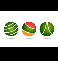 Abstract circle icon logo set template design vector image