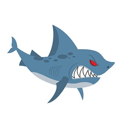 Angry shark Marine predator with large teeth vector image vector image