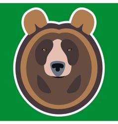 Brown Bear Head vector image