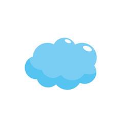 cute cloud weather design icon vector image vector image