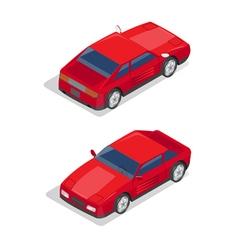 Isometric Transportation Sport Car Isometric Car vector image vector image