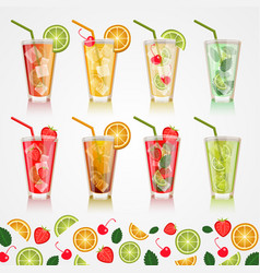 set alcoholic beverages vector image