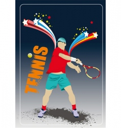 tennis poster vector image vector image