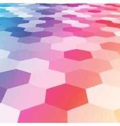 abstract colorful hexagonal floor 3d vector image vector image
