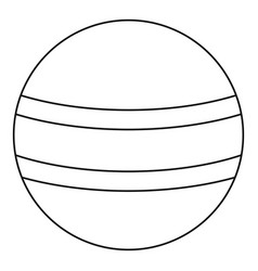 ball with stripes icon outline style vector image vector image