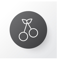cherry icon symbol premium quality isolated sweet vector image vector image