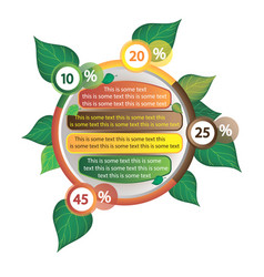 infographics decorated with leaves of trees vector image