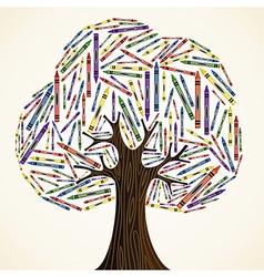 School art education concept tree vector image vector image