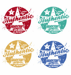 set of authentic prints apparel in different vector image vector image