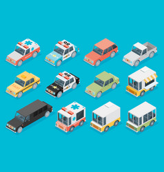 Set of the isometric cars vector