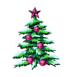 sketch of symbol christmas vector image vector image