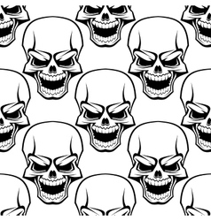 Skull seamless background pattern vector image vector image
