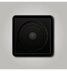Square speaker icon vector image