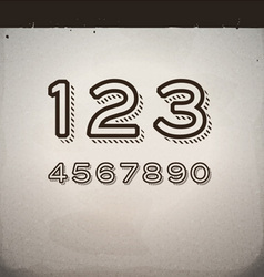 Stylish Retro Numbers vector image vector image