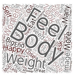 Teen chat steps to have a great body image text vector