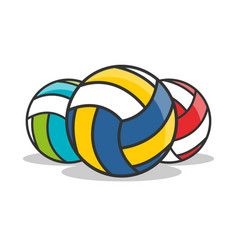3 types of volleyball icon isolated vector image