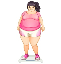A fat girl vector image