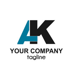 Ak initials letter company logo and icon vector