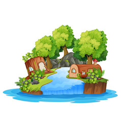 An isolated nature landscape vector