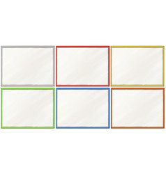 Blank boards with six color frames vector